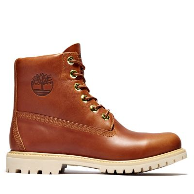 6-Inch+Boot+Collarless+pour+femme+en+marron