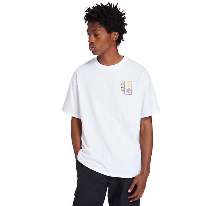 T-shirt graphique Nouvel An lunaire pour homme en blanc-