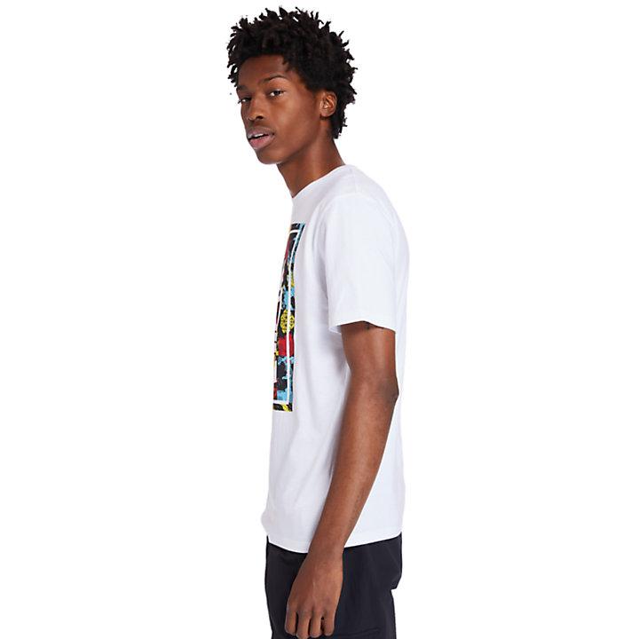 Camiseta con Logotipo para Hombre en blanco-