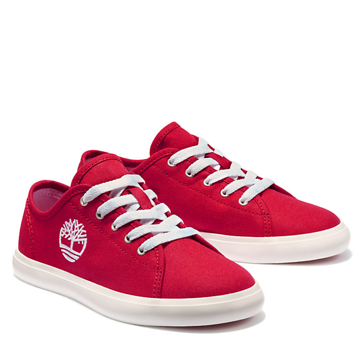 Oxford Newport Bay en toile junior en rouge-