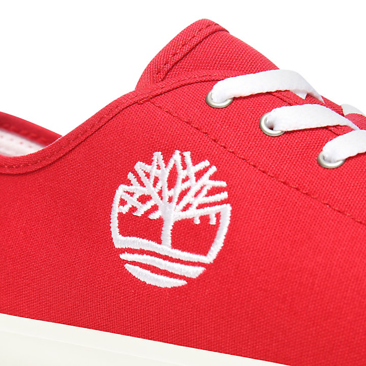 Newport Bay Canvas Oxford voor Juniors in Rood-