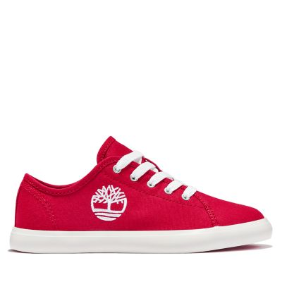 Newport+Bay+Canvas+Oxford+for+Junior+in+Red