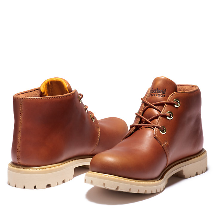Nellie Logo Chukka Boot for Women in Brown-