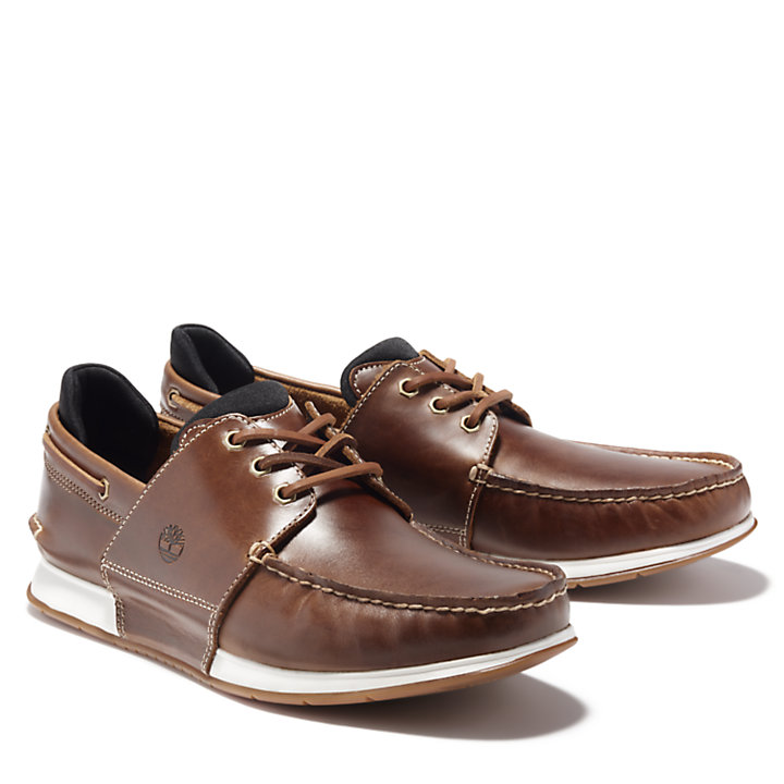 Heger's Bay Boat Shoe for Men in Brown-