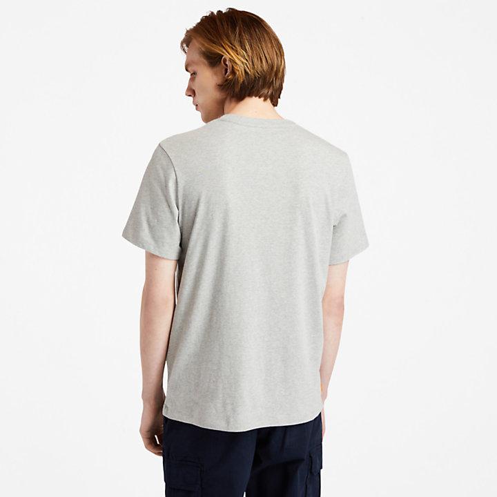 Camiseta con Logotipo Estampado Elevado de hombre en gris-