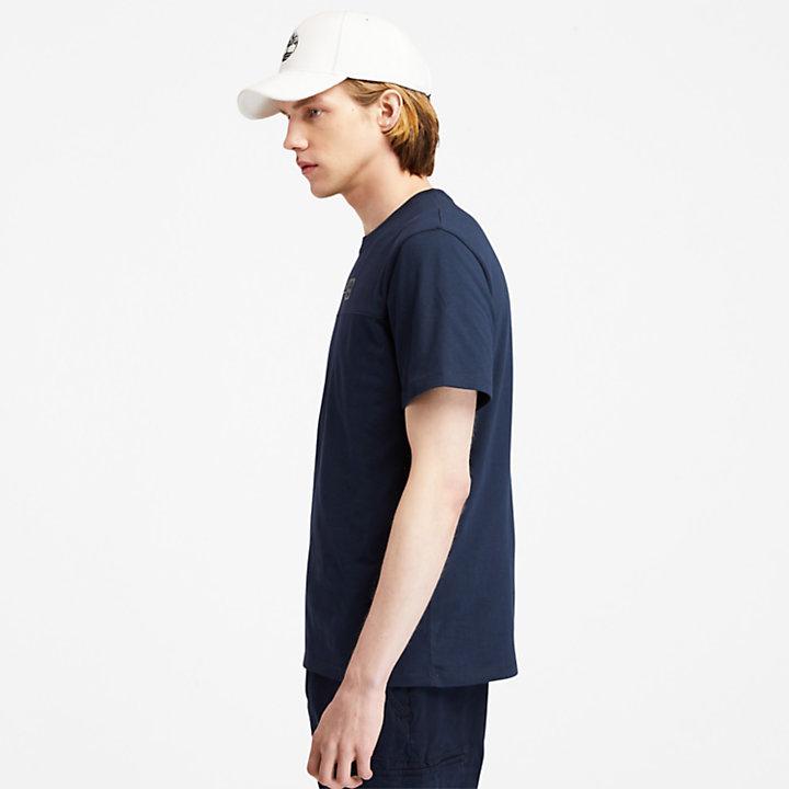 T-Shirt mit erhabenem Logo-Print für Herren in Navyblau-