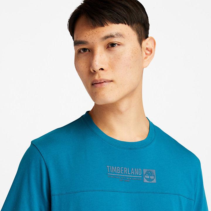Raised-print Logo T-Shirt voor heren in groenblauw-