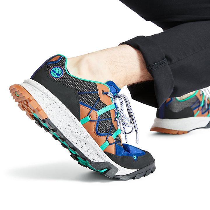Chaussure Garrison Trail Outdoor pour homme en noir/bleu-