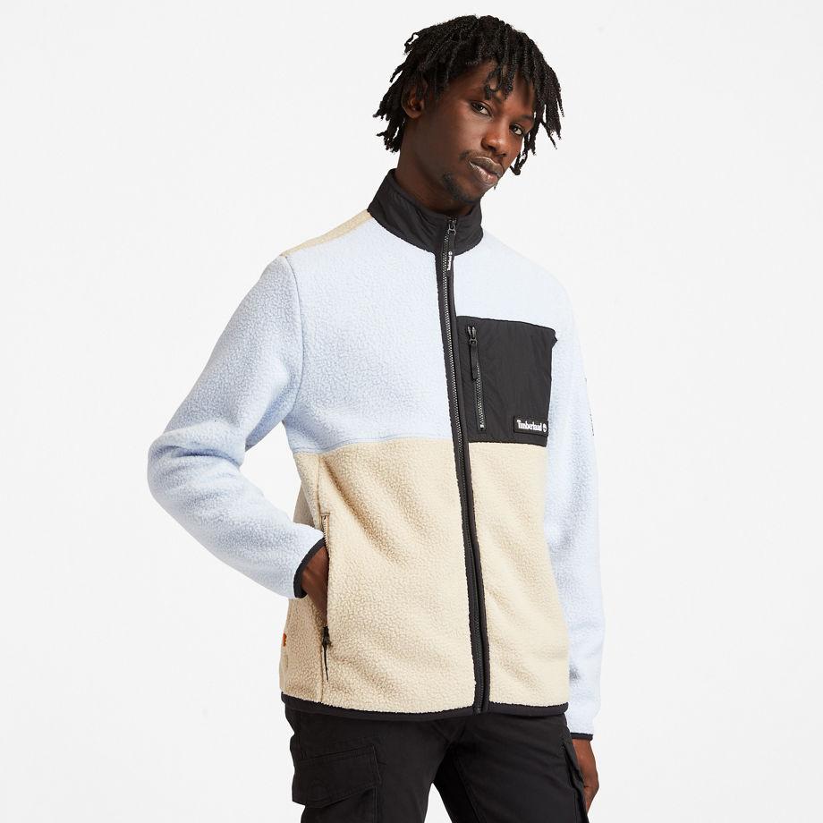 Timberland Outdoor Archive Fleece Jacket For Men In Light Blue Light Blue, Size 3XL