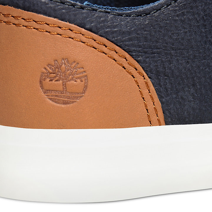 Newport Bay Leather Trainer for Toddler in Navy-