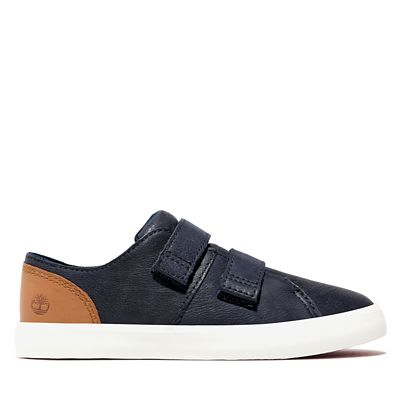 Newport+Bay+Leather+2-Strap+Sneaker+voor+Peuters+%26+Kleuters+in+marineblauw