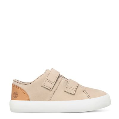 Newport+Bay+Leather+Trainer+for+Toddler+in+Beige