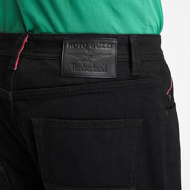 Jean à lisières Moto Guzzi x Timberland® pour homme en noir-