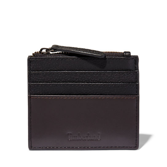 Tuckerman Zipped Card Holder for Men in Black | Timberland