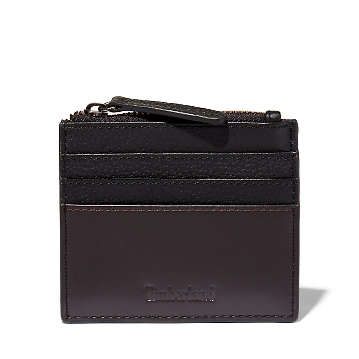 Tuckerman Zipped Card Holder for Men in Black-