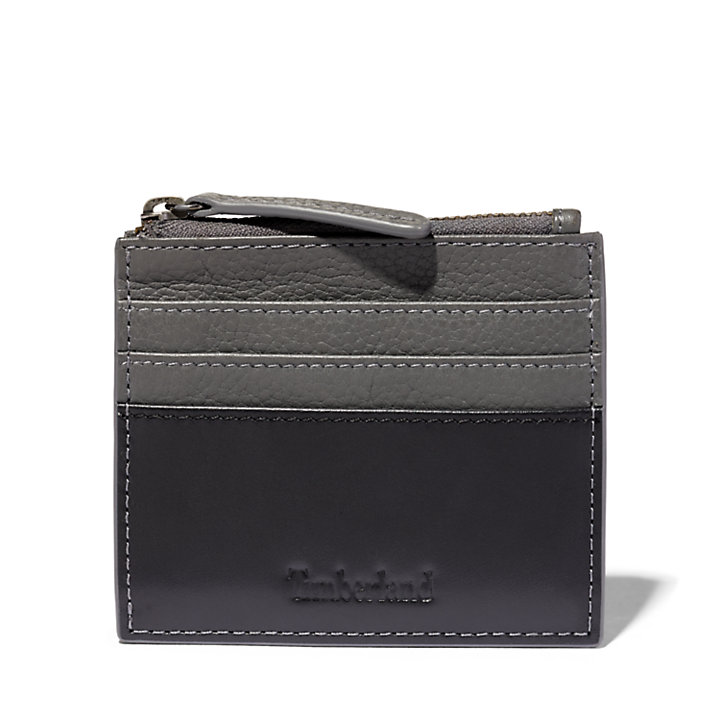 Tuckerman Zipped Card Holder for Men in Grey-