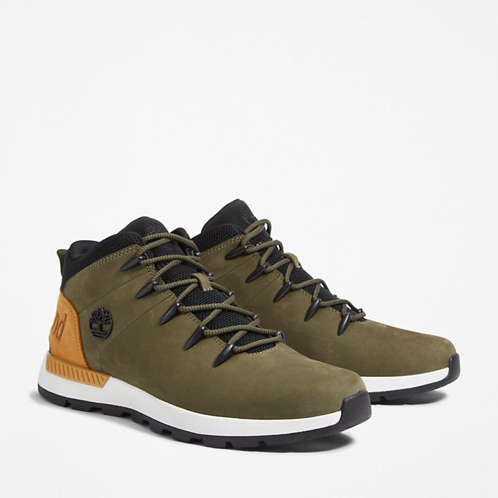 Sprint Trekker Hiking Boot for Men in Green-