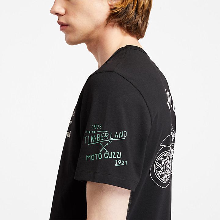 Camiseta Moto Guzzi x Timberland® para Hombre en color negro-