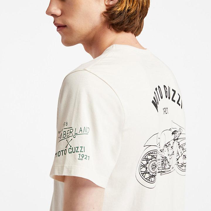 Camiseta Moto Guzzi x Timberland® para Hombre en blanco-