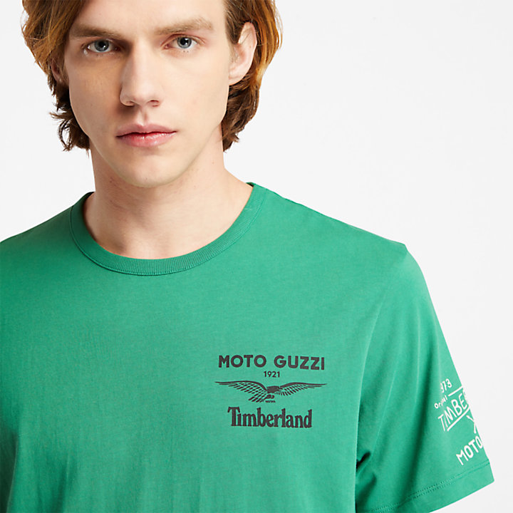 T-shirt da Uomo Moto Guzzi x Timberland® in verde-