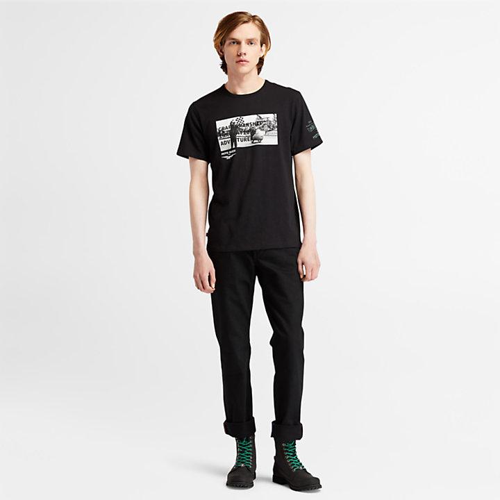 Moto Guzzi x Timberland® Photo T-shirt for Men in Black-