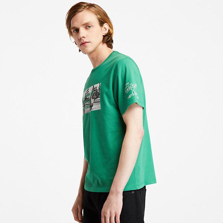 T-shirt da Uomo con Foto Moto Guzzi x Timberland® in verde-