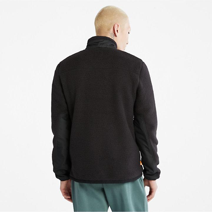 Sherpa Fleece Jacket for Men in Black-