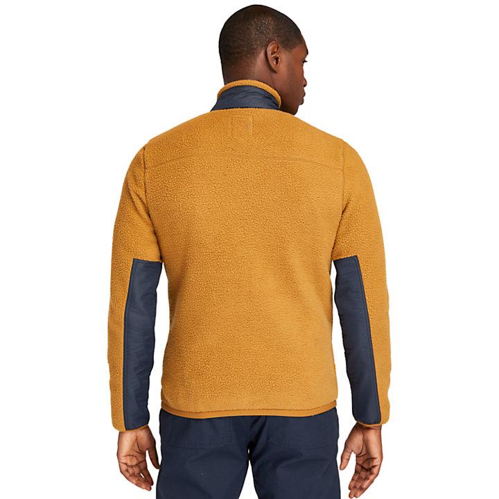 Polaire en sherpa pour homme en marron clair-