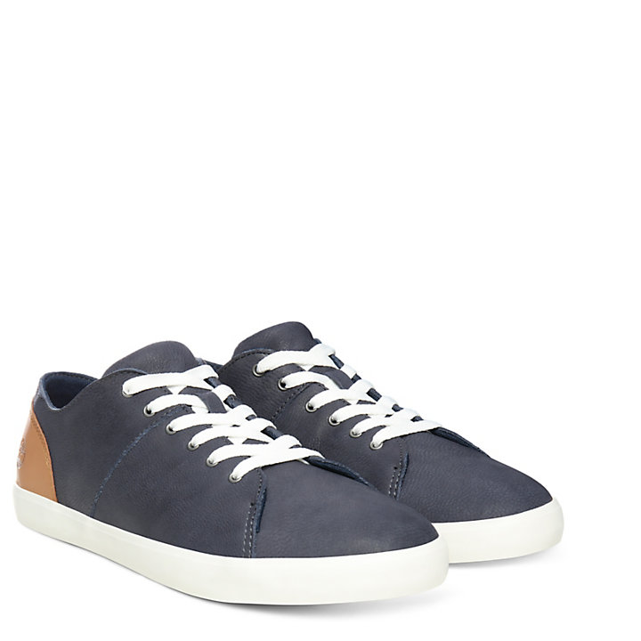 Oxford Newport Bay en cuir pour junior en bleu marine-