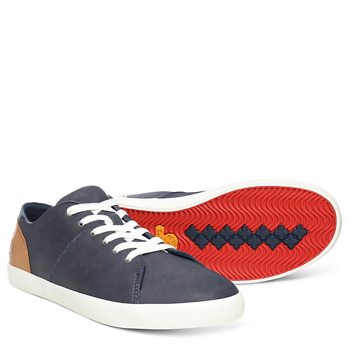 Newport Bay Leather Oxford for Junior in Navy-