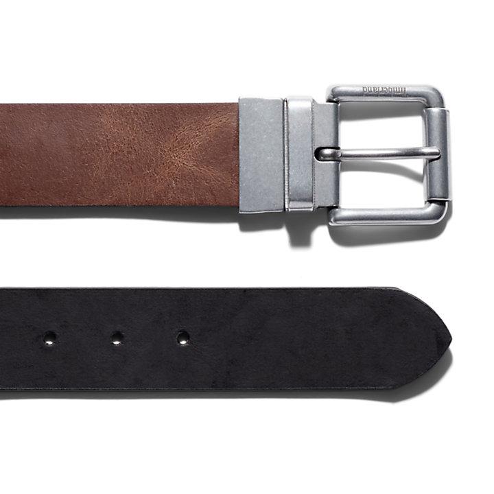 Reversible Roller Buckle Belt for Men in Brown-