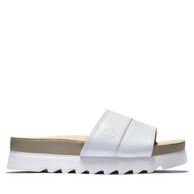 Santa+Monica+Sunrise+Slide+Sandal+for+Women+in+White