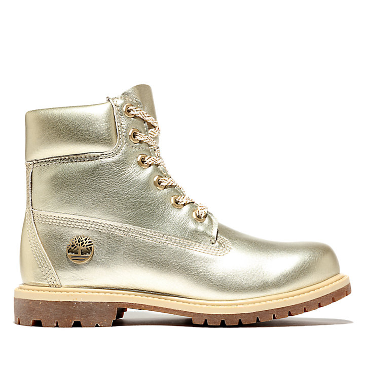 6 Inch Premium Boot for Women in Gold-