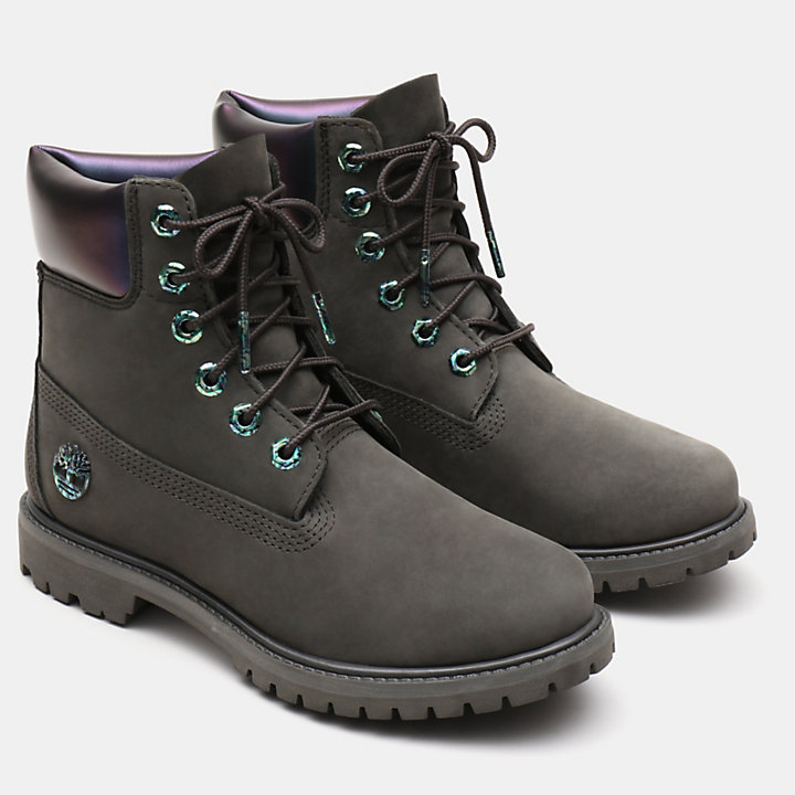 6 Inch Iridescent Premium Boot for Women in Dark Green-