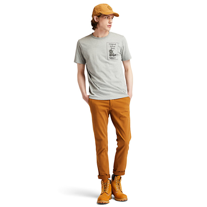 Archive Boot T-Shirt for Men in Grey-