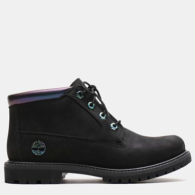 Nellie+Iridescent+Chukka+for+Women+in+Black