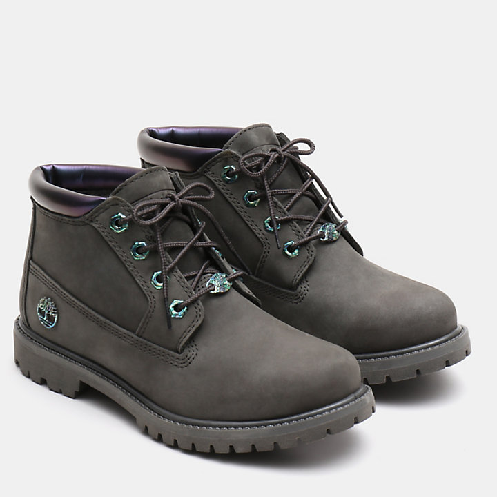 Nellie Iridescent Chukka for Women in Dark Green-