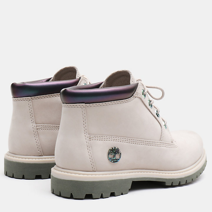 Nellie Iridescent Chukka for Women in Greige-