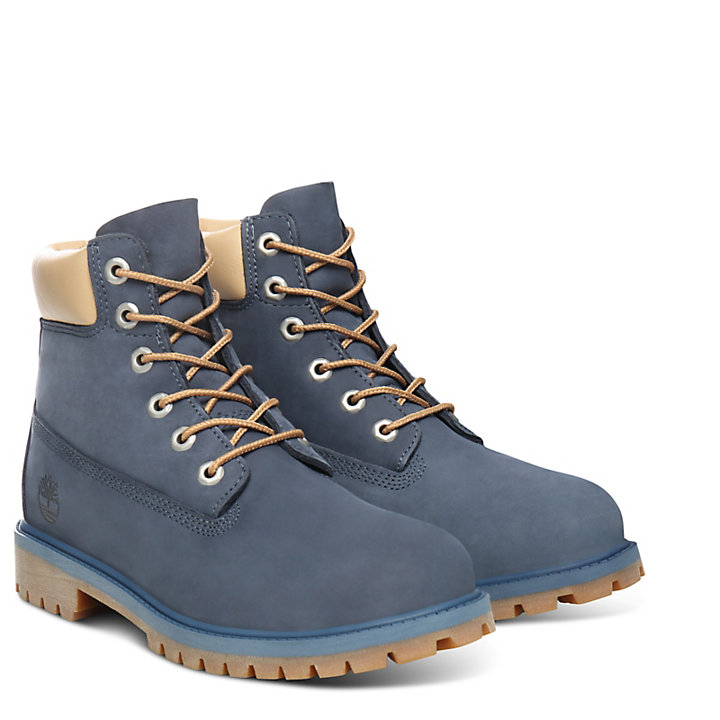 6-Inch Boot Premium junior en bleu-