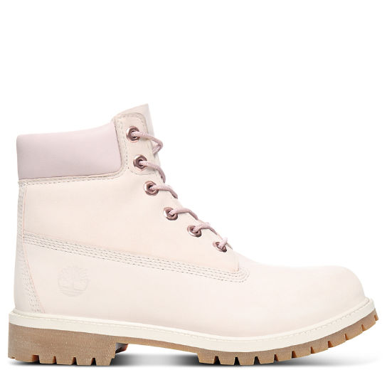 Premium 6 Inch Boot for Junior in Light Pink | Timberland