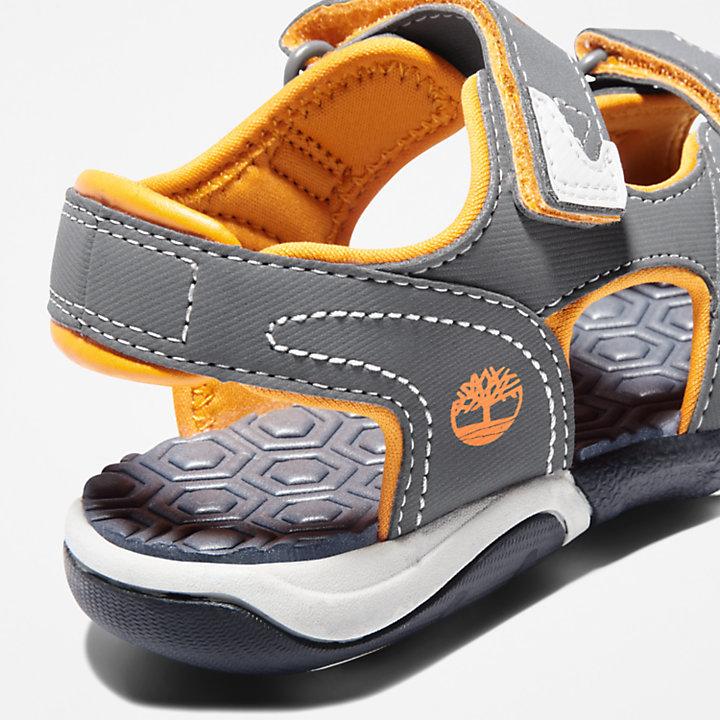 Adventure Seeker Sandale mit 2 Riemchen für Kleinkinder in Grau/Orange-