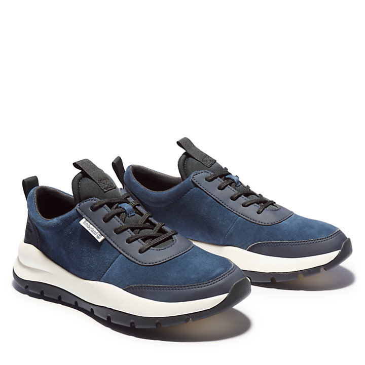 Sneaker da Uomo in Pelle Boroughs Project in blu marino-