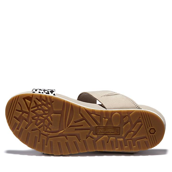 Malibu Waves Slide Sandal for Women in Light Grey-