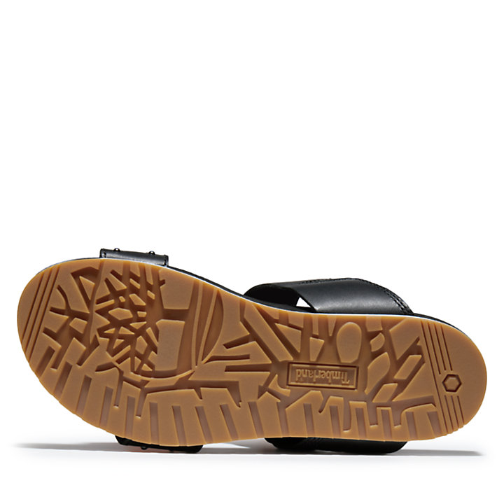 Malibu Waves Slide Sandal for Women in Black-