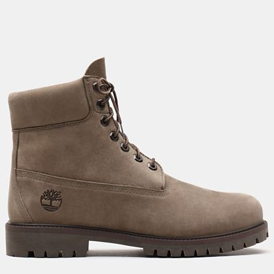 Premium+6+Inch+Heritage+Boot+for+Men+in+Greige