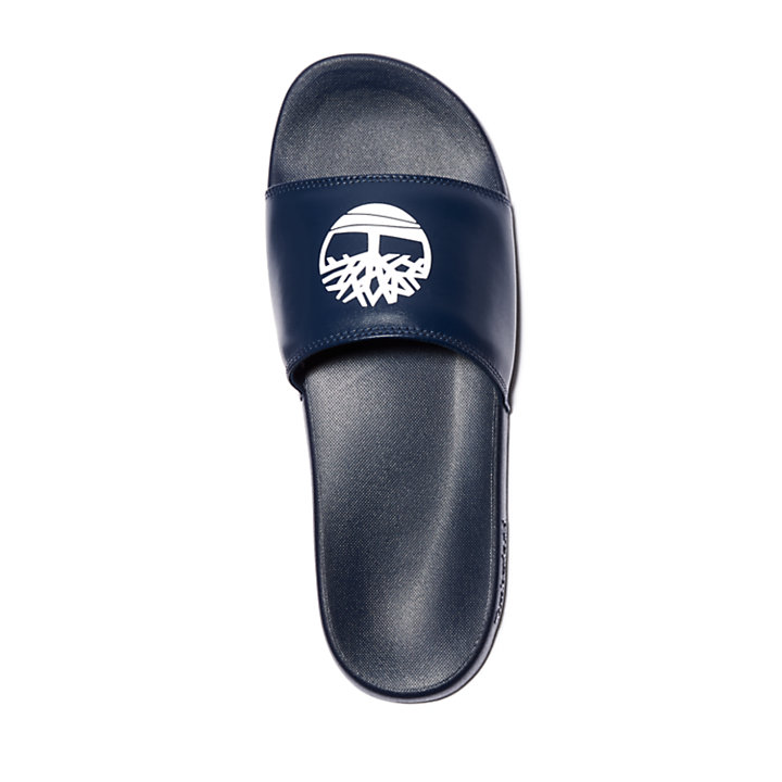 Playa Sands Slide Sandal for Men in Navy-