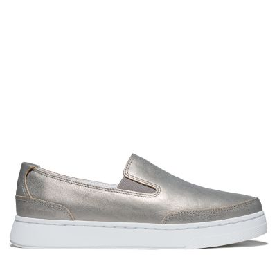 Atlanta+Green+Slip-on+Shoe+for+Women+in+Silver