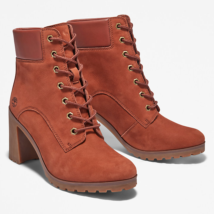 Allington Heeled 6 Inch Boot for Women in Brown-