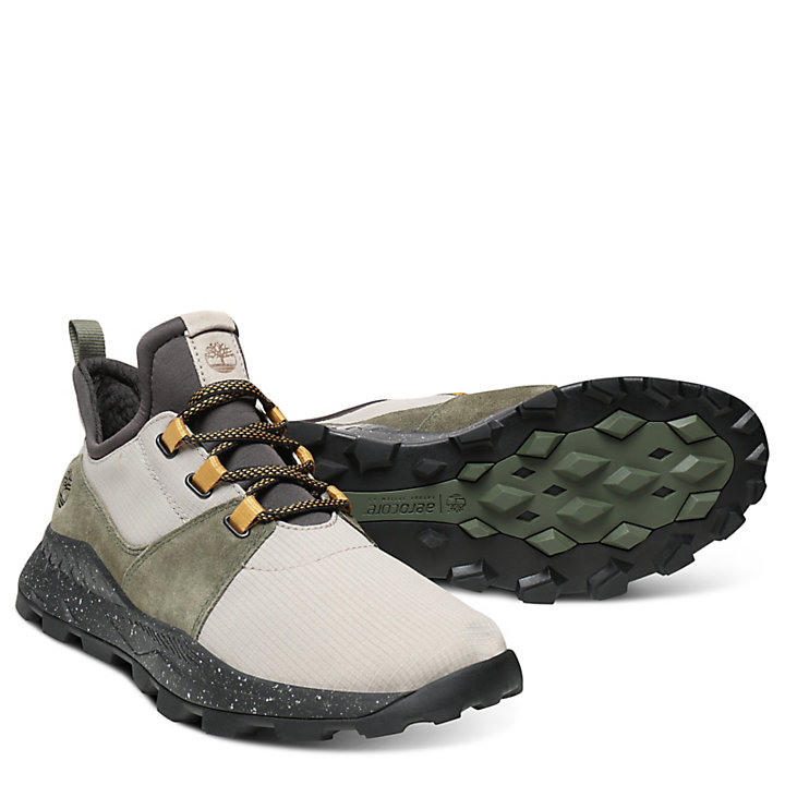 Brooklyn Sneaker for Men in Taupe/Green-