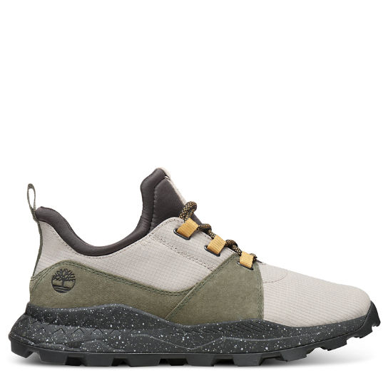 Brooklyn Sneaker for Men in Taupe/Green | Timberland